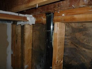 Water Damage Restoration In Joists And Piping